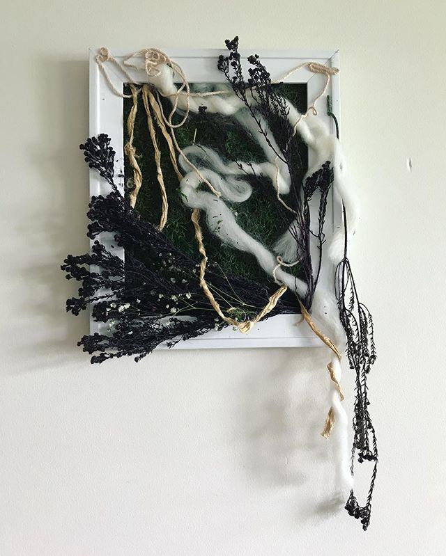 #art #fiberart #wool #cotton #yarn #plants #plantdye #natural #sculpture #livingsculpture