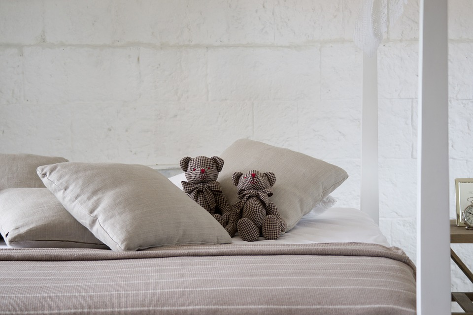 Bed With Teddy Bears