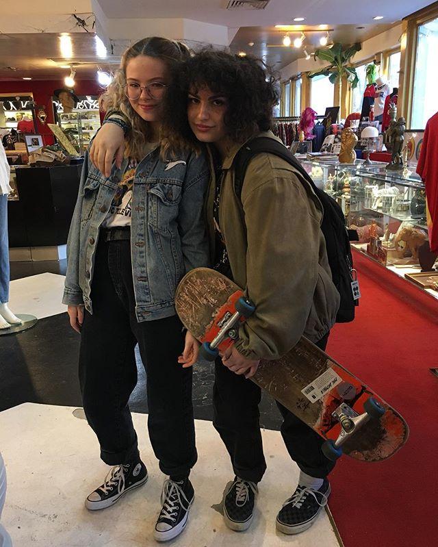 These two amazing ladies strutting their stuff in our store! Inspiring! #vintage #vintageclothing #vintagefashion #fashion #alternative #vancouver #usedhouseofvintage #radladies