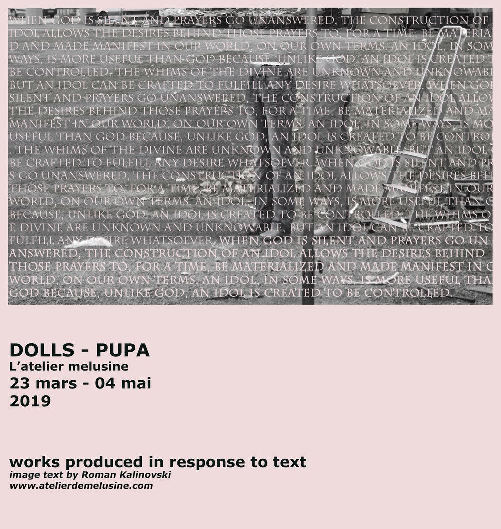 Dolls - Pupa - VernissageSamedi 23 Mars 18.00 - 21.00