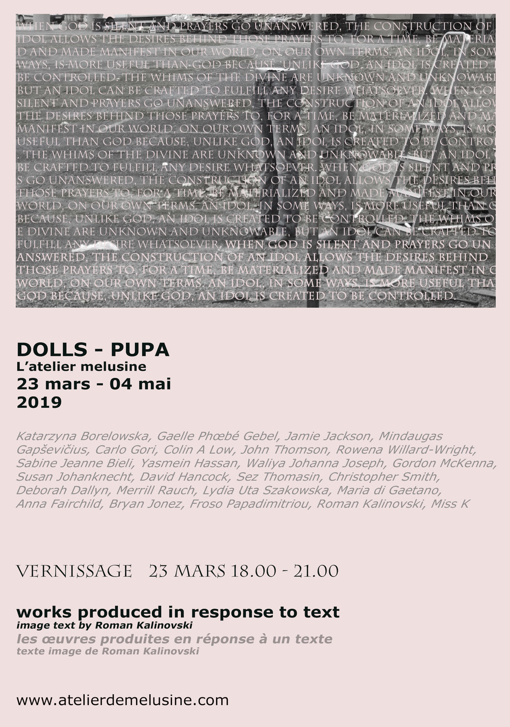 01. 03. 19. Announcing the artists selected for 'Dolls - Pupa'