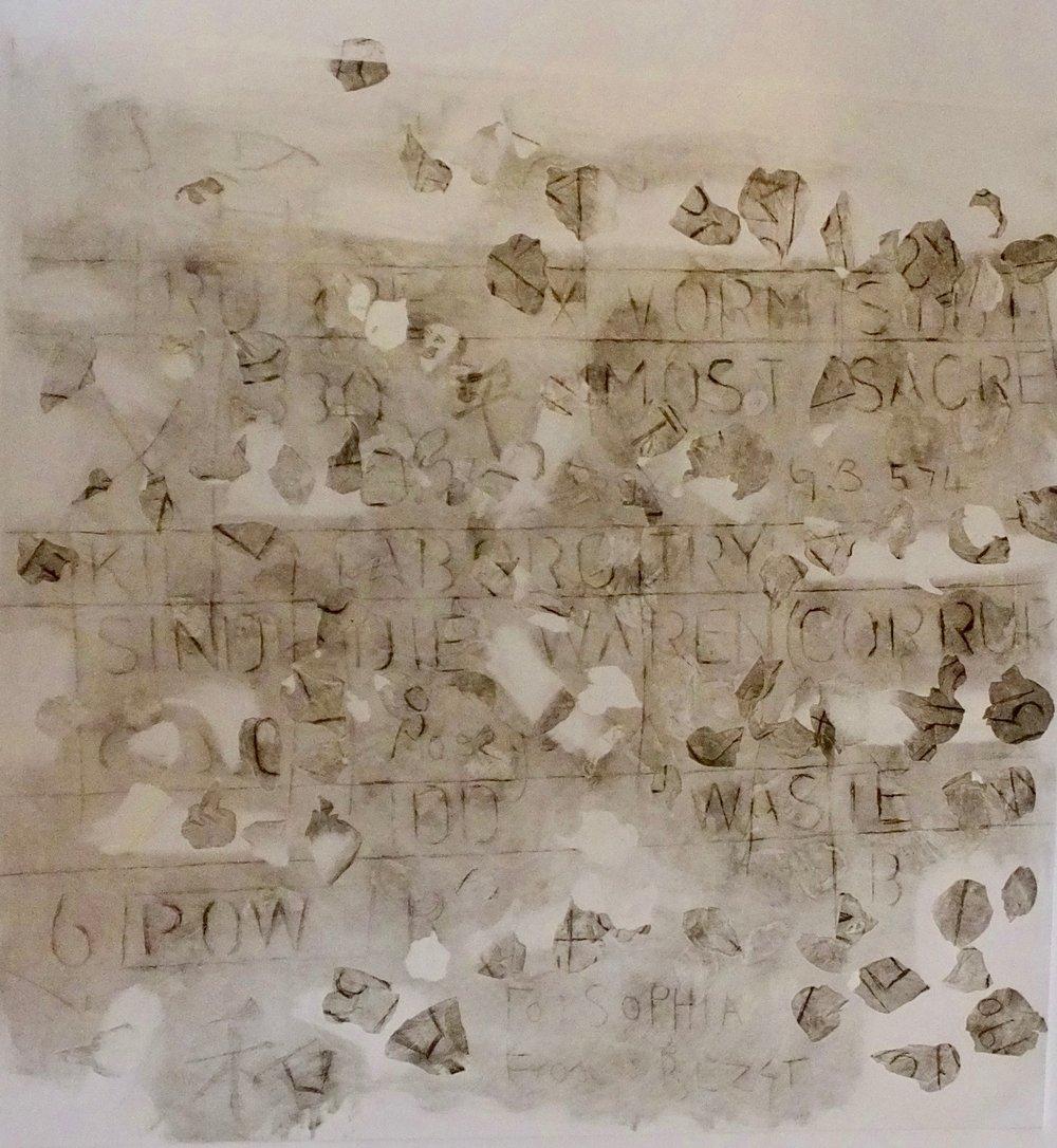 Text 2 P3. Rose Petal transfer etching