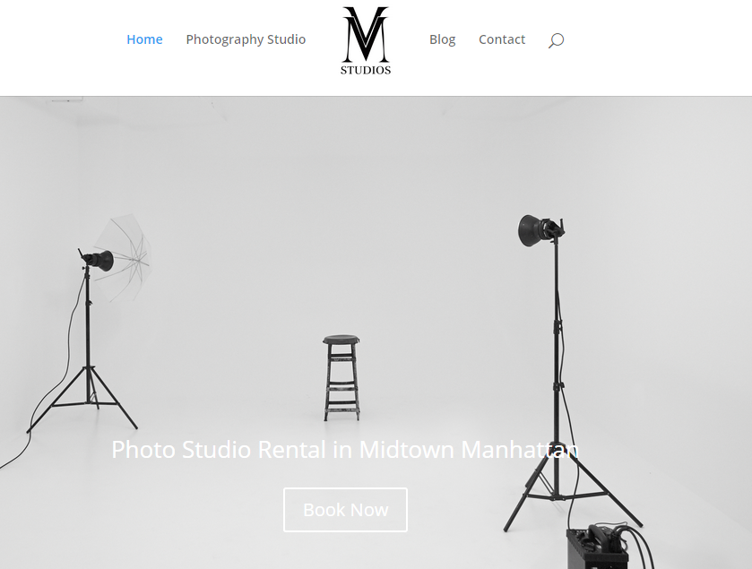 homepage of studio