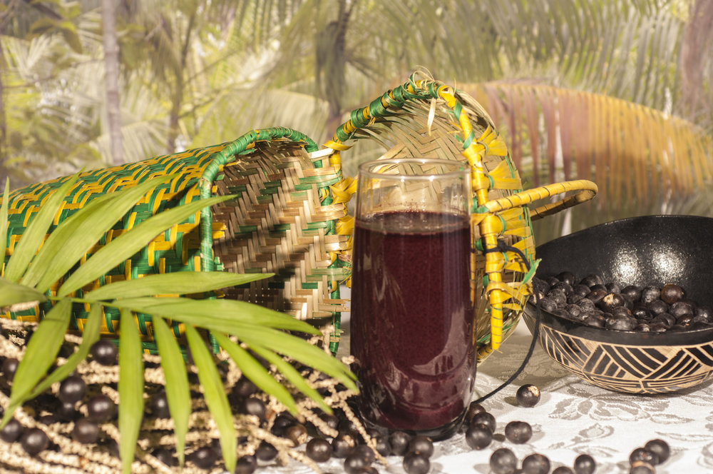 Acai fruit grows on palm trees close to the waters of the Amazon and its tributaries.