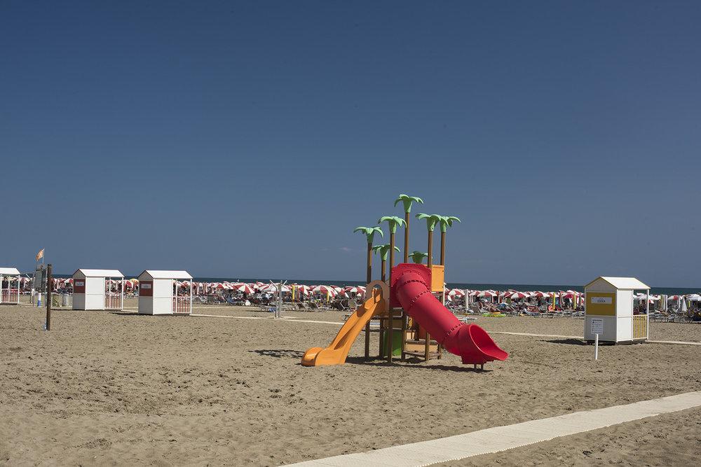 Caorle beach near Lungomare Venezia