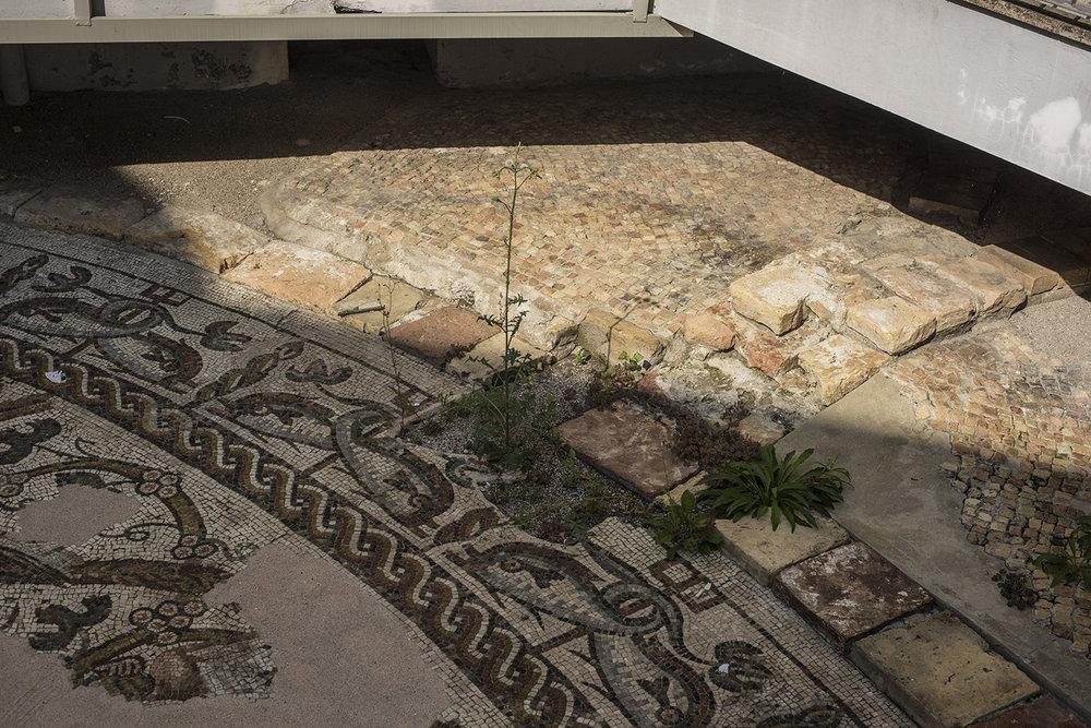 AS17-02013 Archeological site, paleo-christian mosaics, Treviso, Veneto