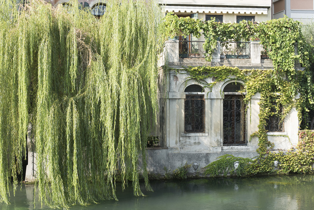 House and garden on the River Sile