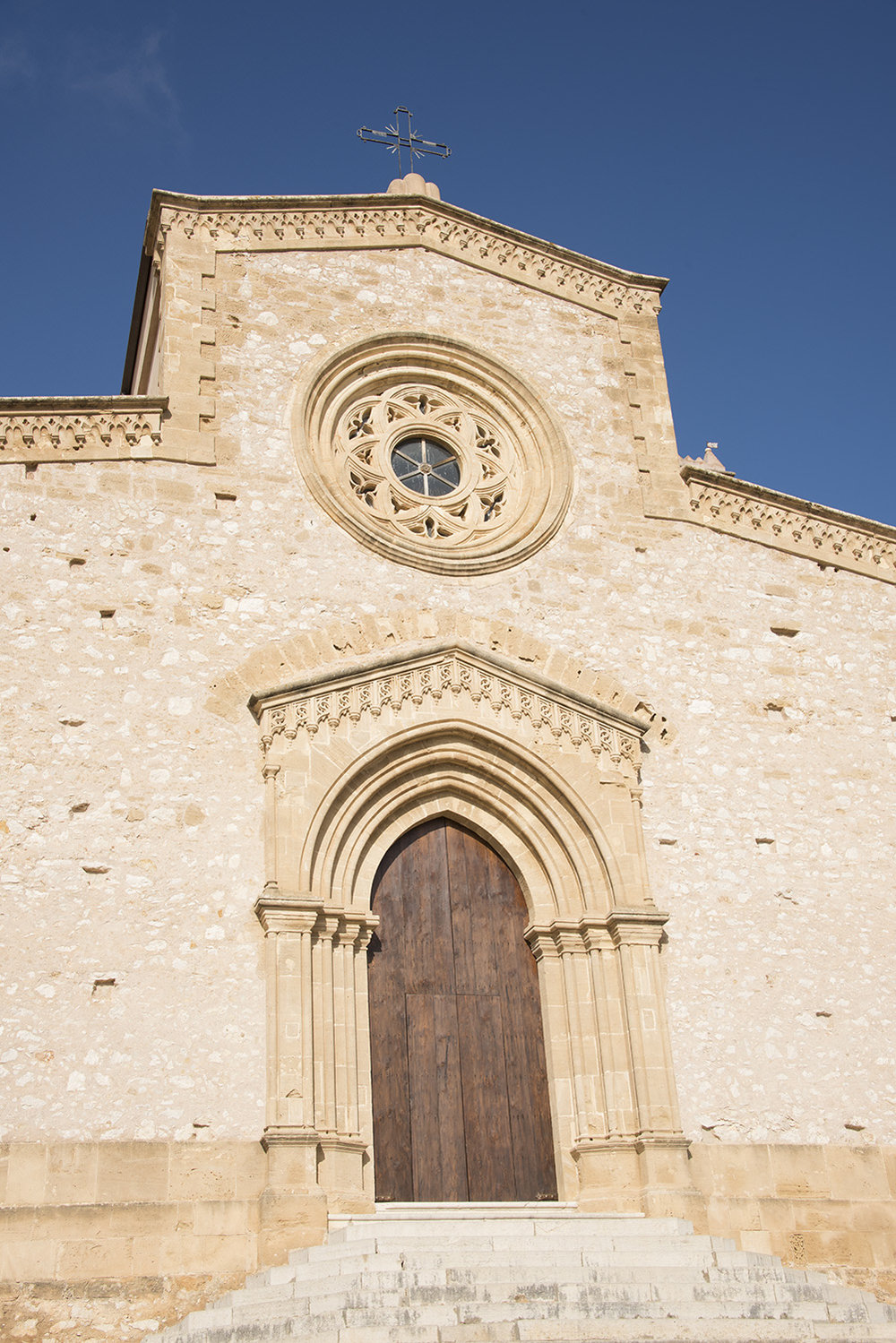 View of the main doors of the Sanctuary of Maria Santissima of Custonaci, Custonaci, Sicily