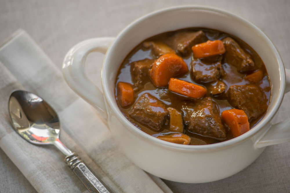 Savory Beef & Paprika Stew with Carrots