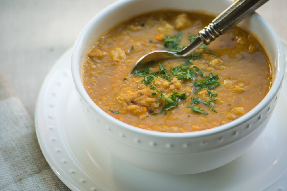 Indian Lentil Soup with Whole Spices