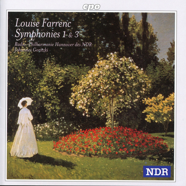 Album art for the NDR release of Farrenc's 1st and 3rd symphonies