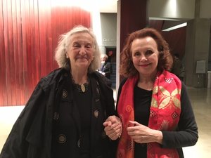 Musgrave and another modern master, Kaija Saariaho. Source:  http://www.theamusgrave.com/gallery/