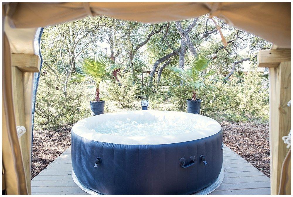 """Lotus Belle"" hot tub"