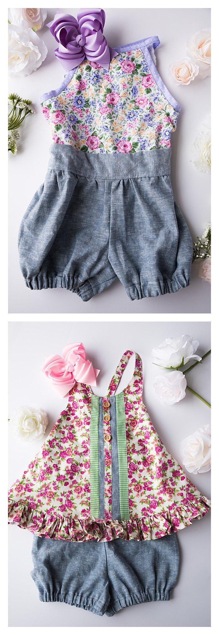 purple romper for toddler girls, vintage top for girls