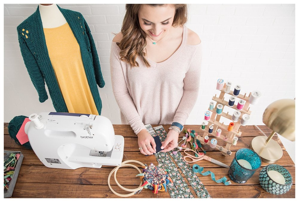 sewing girl, local business, quilting, handmade clothing, Pinterest flat lays