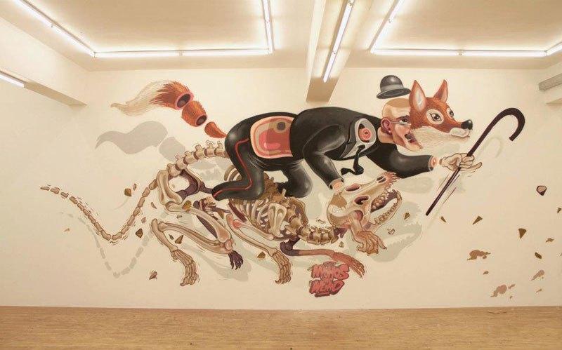 Nychos, exploded-view mural. Image from  Twisted Sifter .