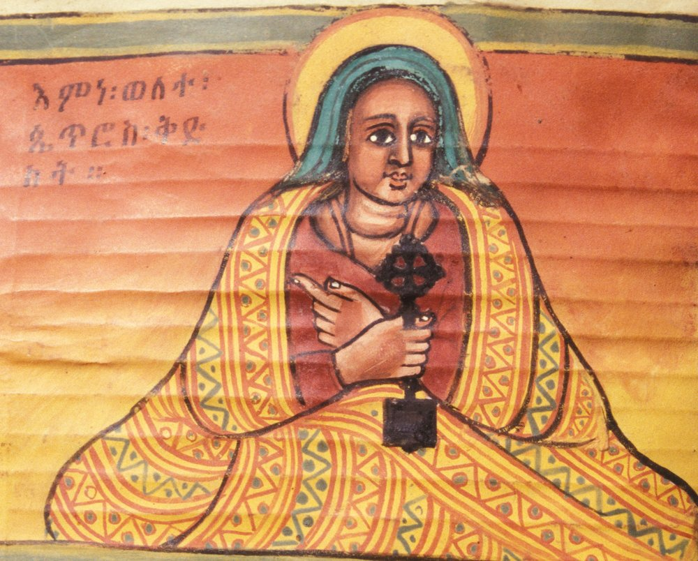 Portrait of the female Ethiopian saint, Walatta Petros. Image from  Wikipedia .