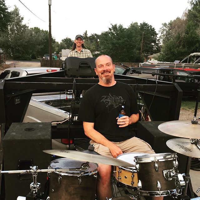 Getting ready for this weekend's Old Fashioned Corn Roast Festival! We are in the parade Saturday (8/26) at 9:30am. Then we take the main stage at 4pm! Come rock with us! (Ben Price is running our sound!) @lovelandchamberofcommerce #cornroastfestival #loveland #downtownloveland #90srock