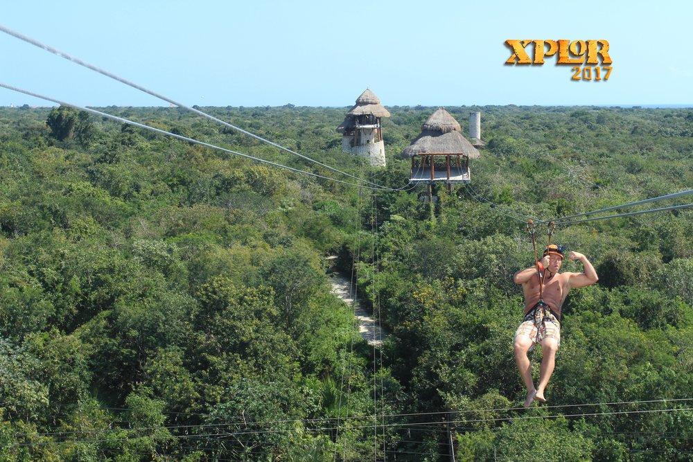 xcaret ziplining cancun mexico