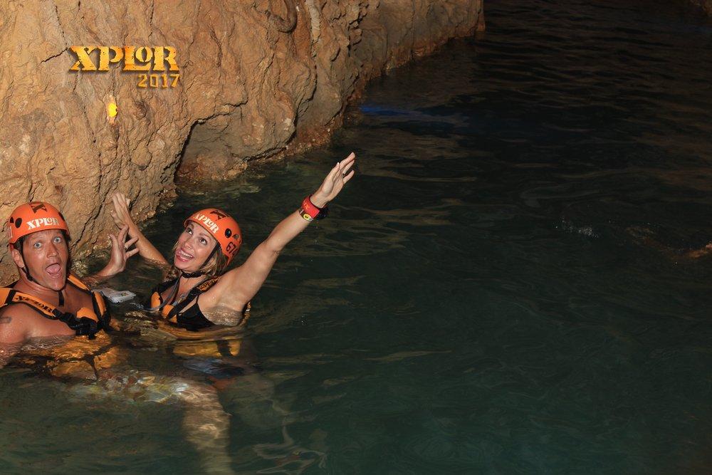 swimming in cenotes, cancun mexico, xplor