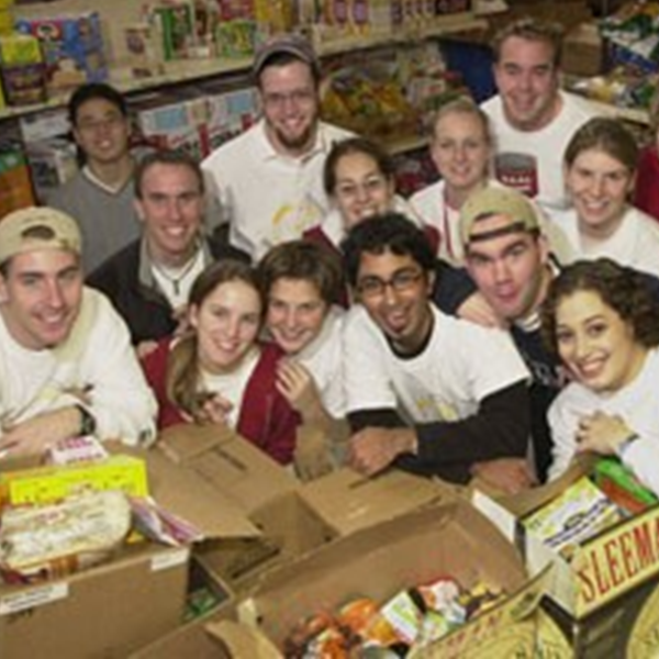 1996: Growth - Rahul and Ryan Saunders wrote their thesis on creating and managing a non-profit organisation, as a guide for Meal Exchange's expansion. This lead to Meal Exchange expanding to other universities, with the University of Guelph being the first to the table. Meal Exchange's first chapter director at the University of Guelph was a young Dave Kranenburg.