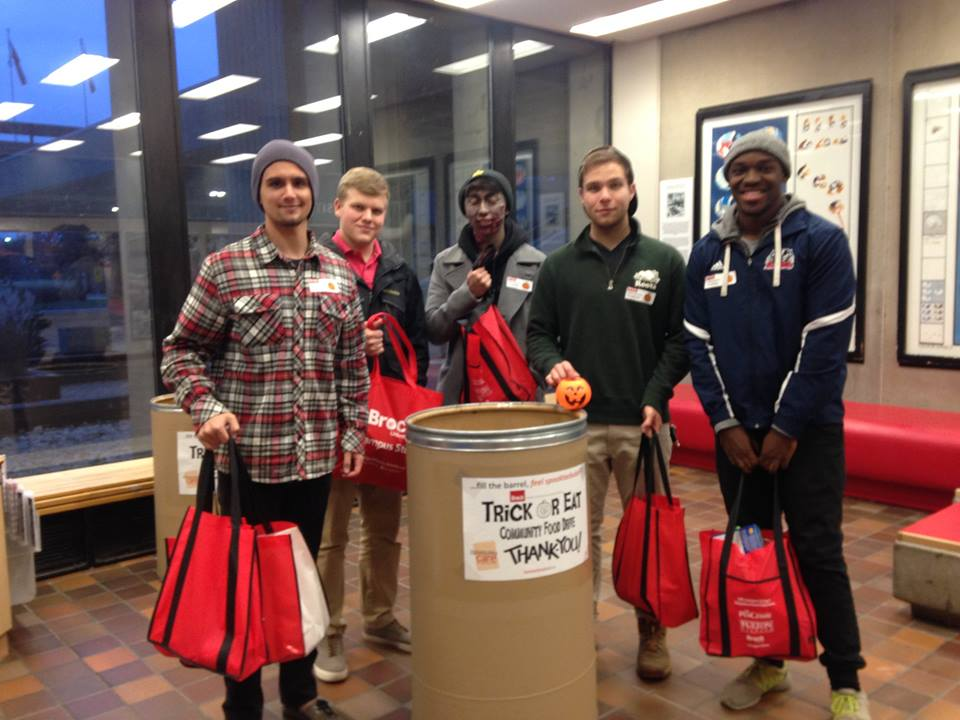 Brock University - Student Leader: KieranContact:foodfirst@brockbusu.caWhat they're up to:- Trick or Eat 2017