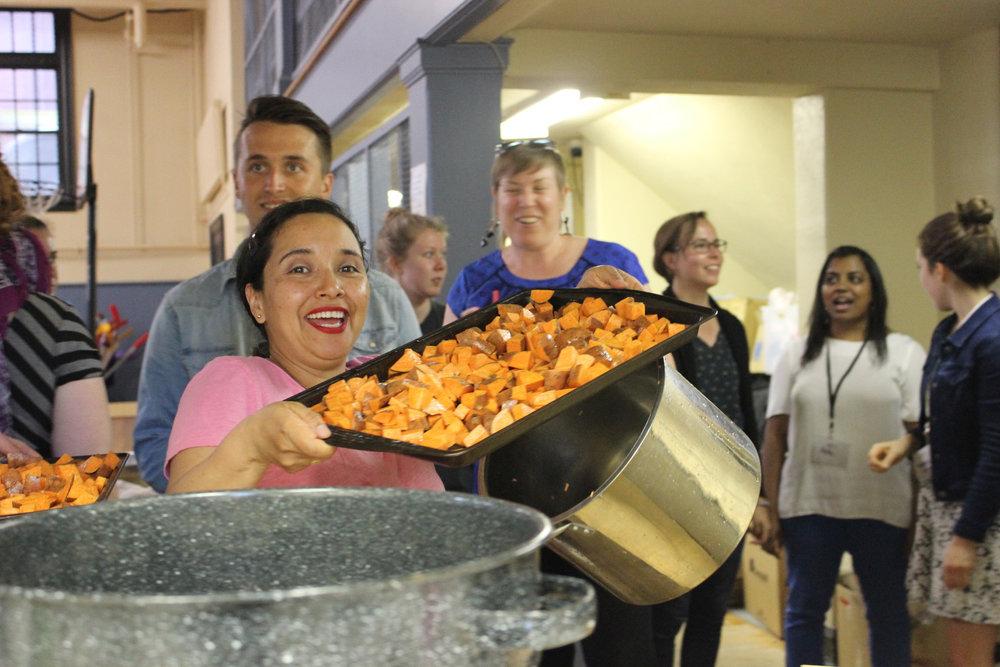 George Brown College - Student Leaders: Mireya, ClaireContact: foodbank1@sagbc.ca,communitycoordinator@sagbc.caWhat they're up to:- George Brown Student Association Food Bank- Campus Food Banks Network- Trick or Eat 2017