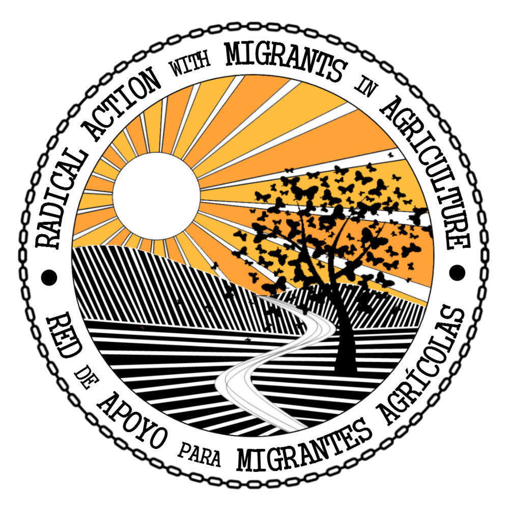 Robyn Bunn is a member of Radical Action with Migrants in Agriculture, a grassroots collective that is committed to food justice, labour rights, migrant rights, and community re-organizing in support of migrant farmworkers in the Okanagan Valley, BC.
