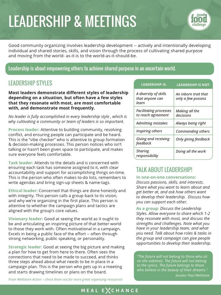 Leadership and Meetings -