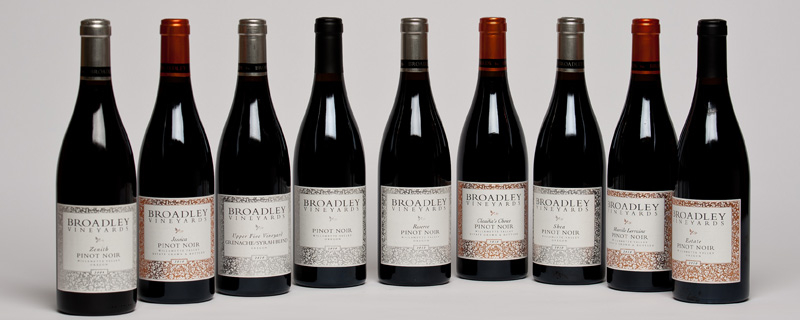 Broadley produces 10+ different Pinot Noirs, Chardonnay & Rose'
