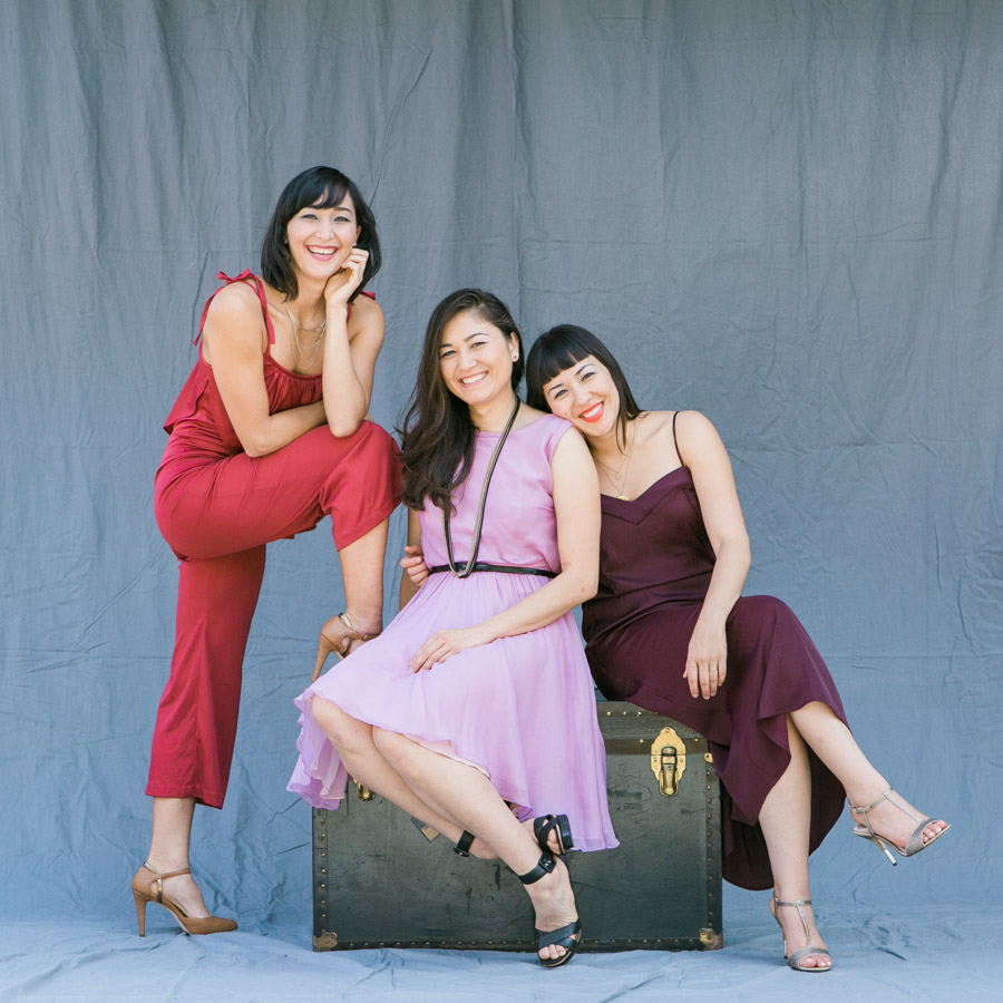 - SistersThe one in the red, Sara, is a circus performer. Melissa (in pink) is a triathlete and conservationist. They still like me despite the decades I spent bossing them around as their big sister.