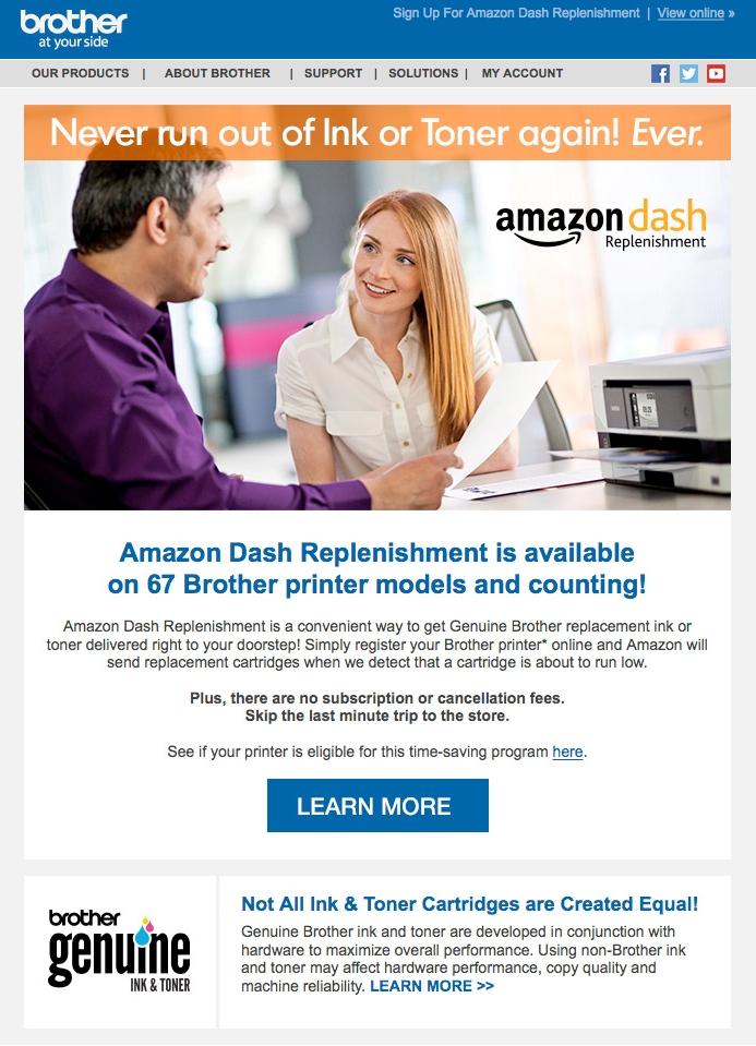 Amazon Dash Email campaign