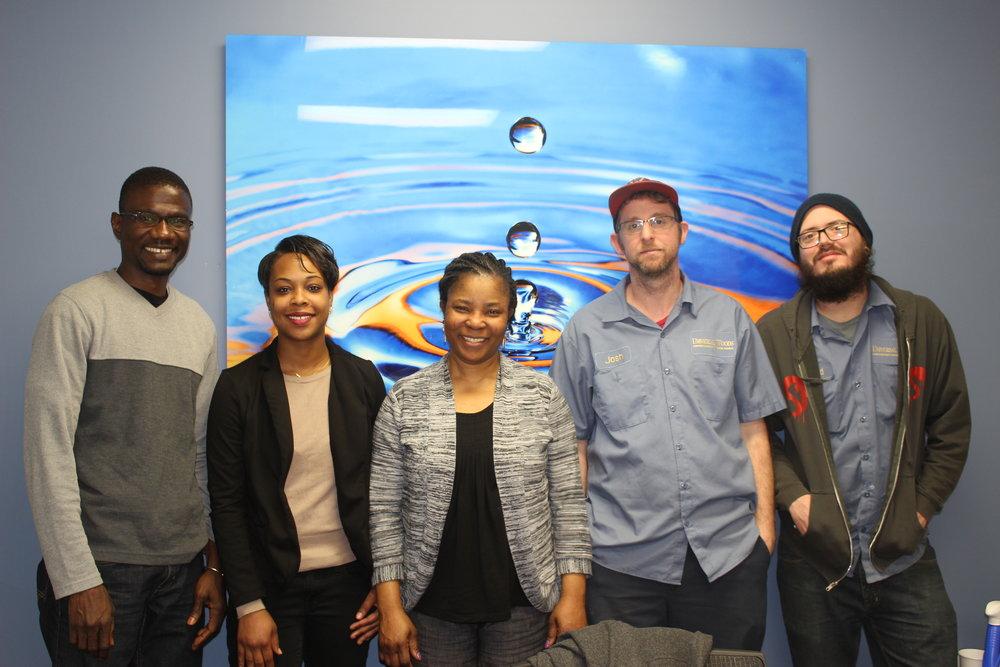 From left to right: Saja Manjang, Joi McAtee (Degrees Work), Bosede Juleus, Josh Clay, Jerid Fleener