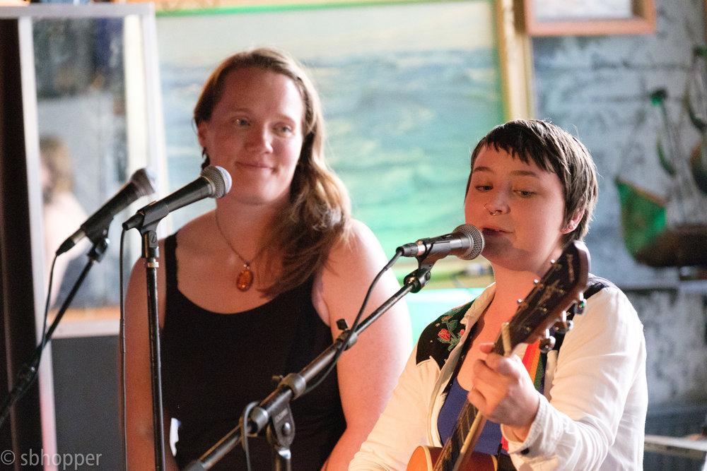 A. Greene with Sandi Fernandez, Chop Suey, Capitol Hill, Seattle, 10 July 2017.