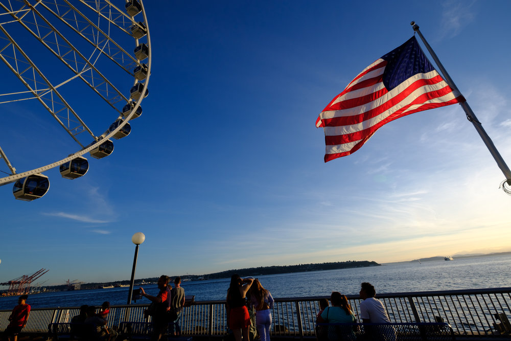 The Wheel in the Sky keeps on turning. Pretty sure I am the first person to have ever used that line. Seattle Waterfront, 20 August 2017.