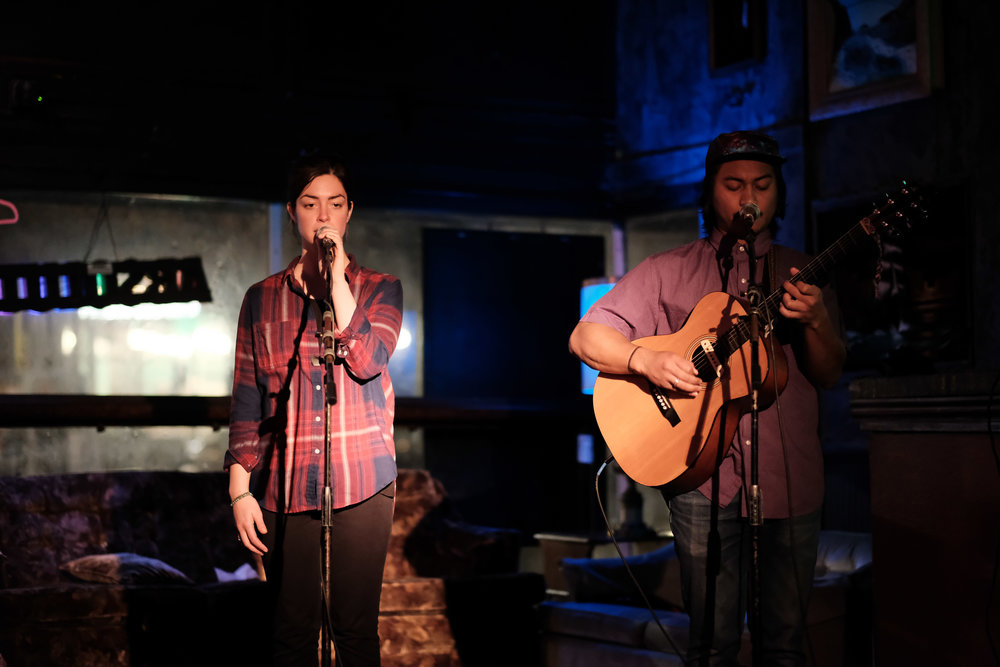 Young-Chhaylee and Hannah Abrams at Capitol Hill's Chop Suey, 21 November 2017.