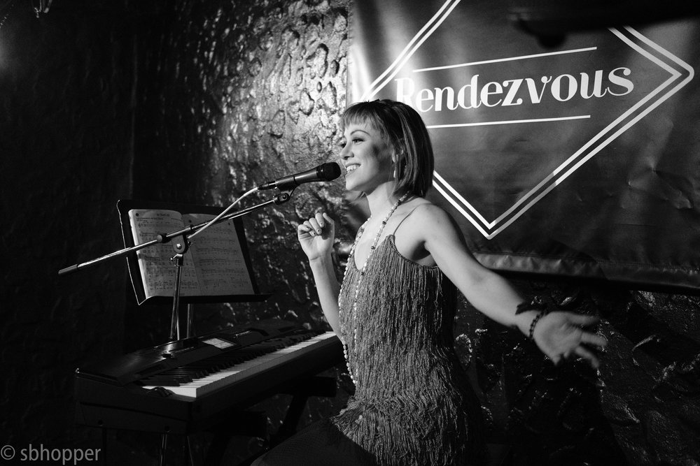 Emily McVicker at Flappers and Dappers, the Rendezvous, Seattle, 25 January 2018.