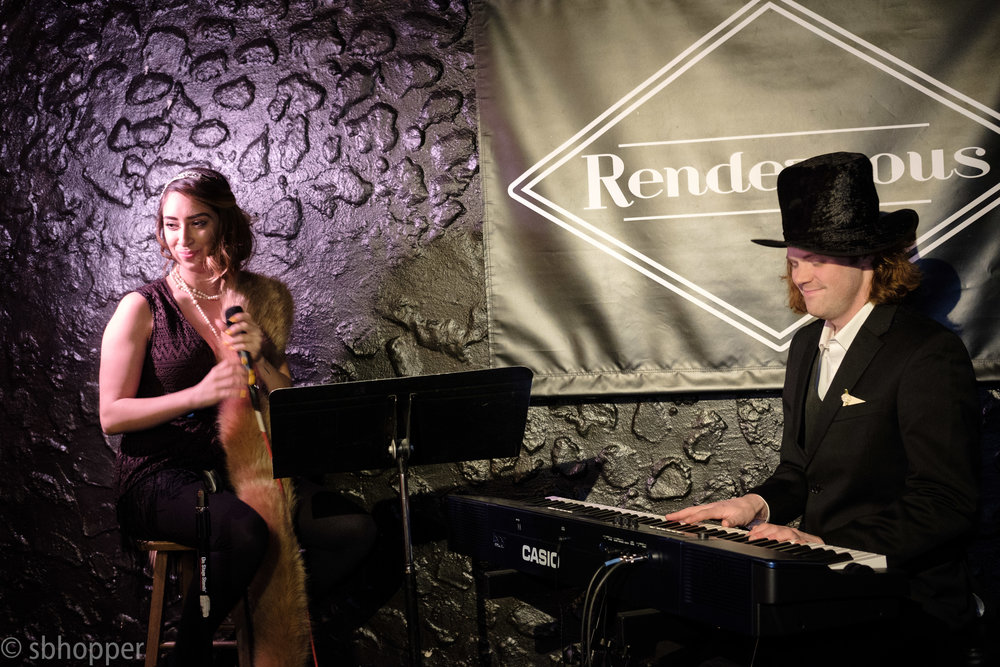 Scarlet Parke at Flappers and Dappers, the Rendezvous, Seattle, 25 January 2018.