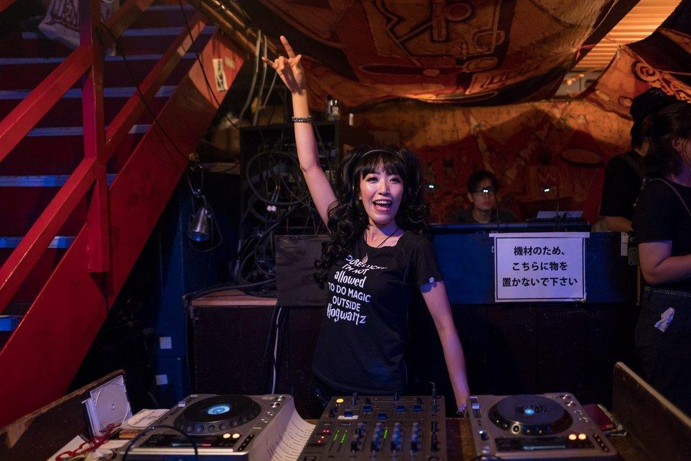DJ Kogure Miwazow. Photo:Yamada Shigeru