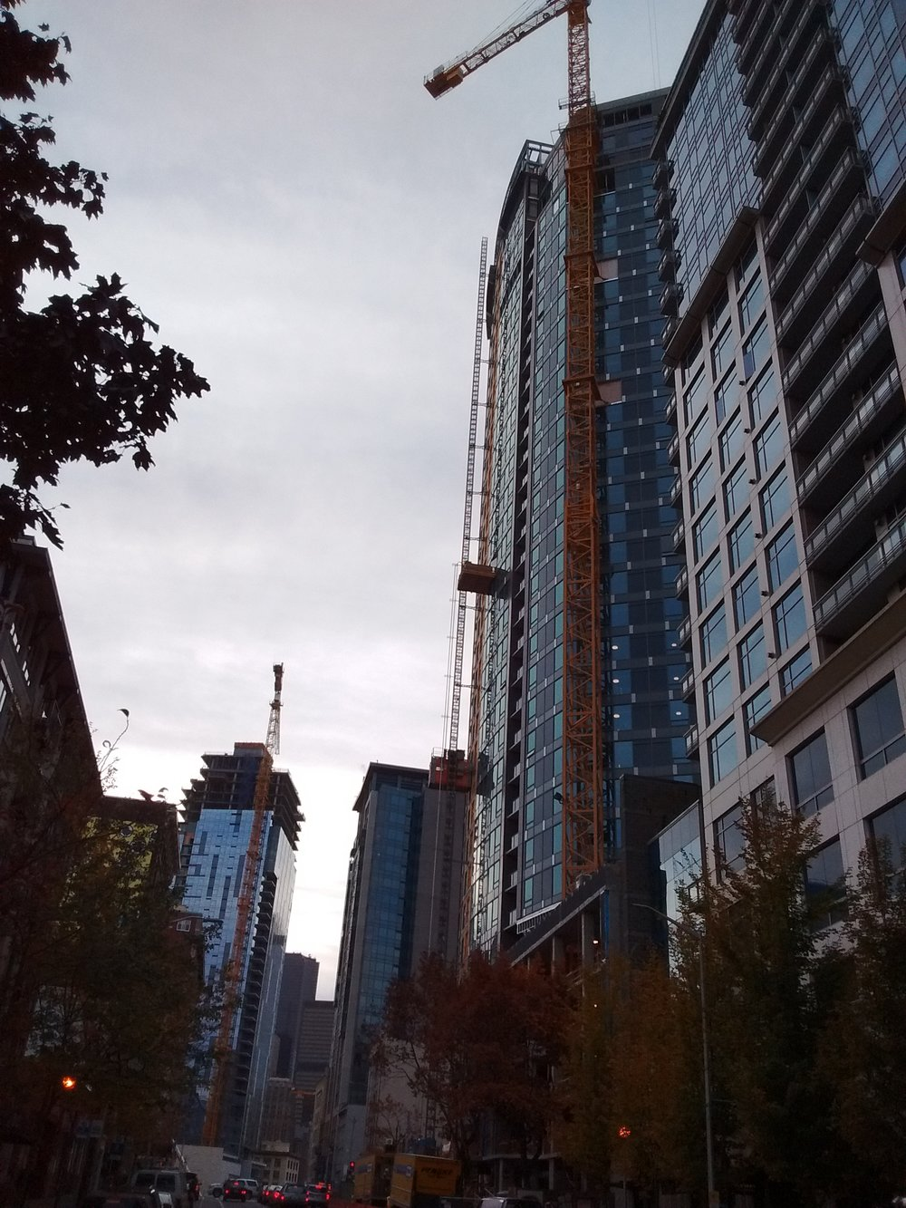 Seattle high rise under construction