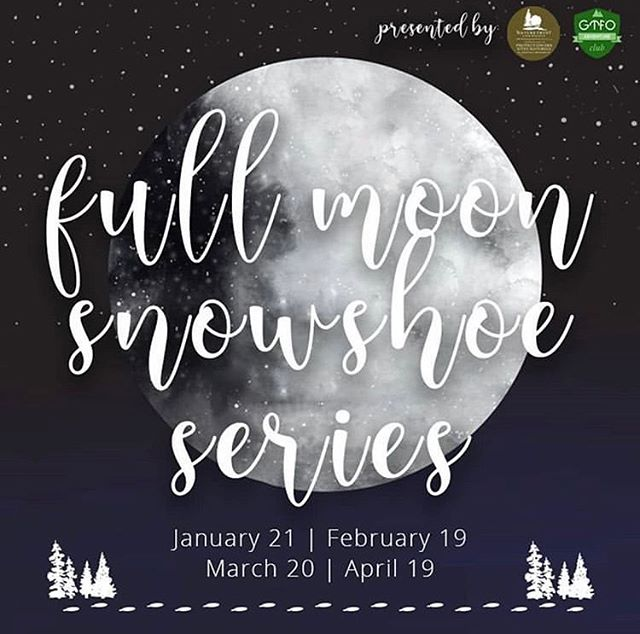 Back back back again! The next instalment of The Full Moon Snowshoe Series with our pals at the @naturetrustnb is at the Seymour Woodlands Nature Preserve (Estey's Bridge) on Tuesday, Feb 19. Registration link in bio, limited space!!