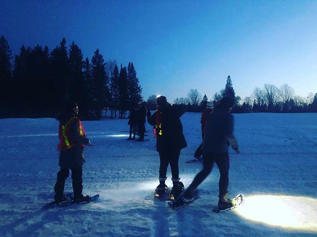 an incredible, clear night for our March Edition of the Full Moon Snowshoe with our buds at the @naturetrustnb and @nature.nb! Stay tuned for registration for our April 19th Full Moon Snowshoe, which will be at the Slippery Mitten trail near Crabbe Mountain! 🌝 #gtfonb
