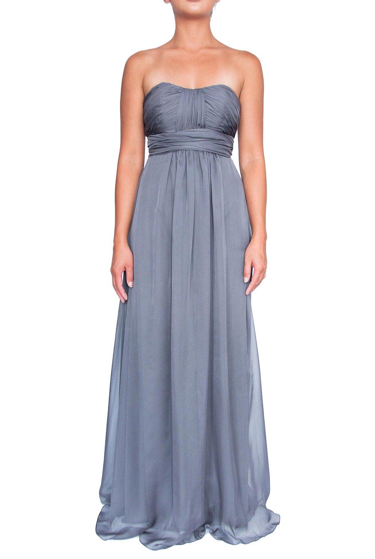 836d0532d1a Chiffon Multiway Dress - Dark Charcoal — Cocktail Boutique