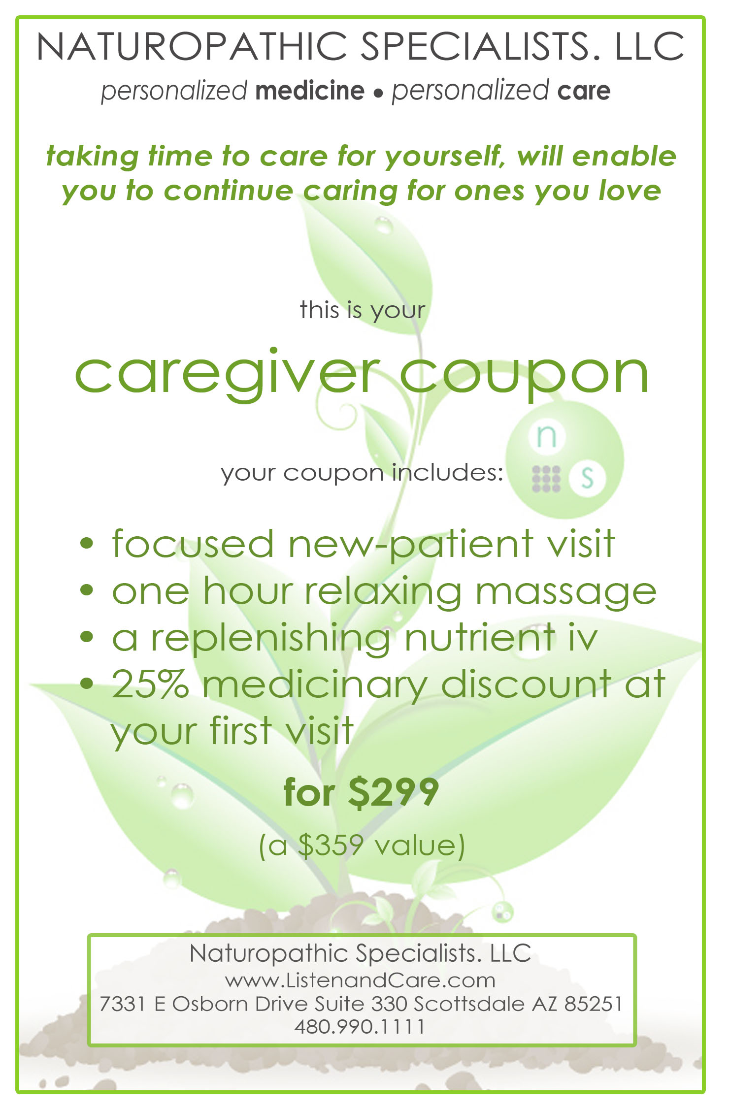 caregiver coupon