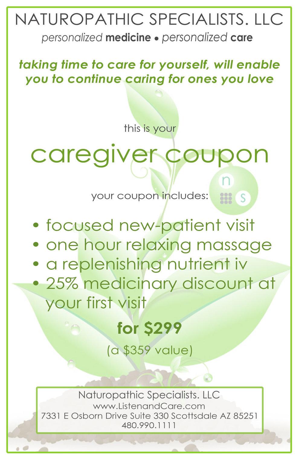 caregiver coupon