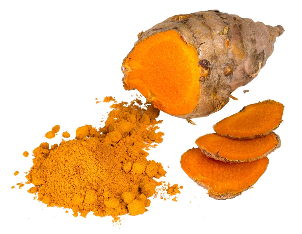 Curcumin is responsible for the yellow color seen in turmeric