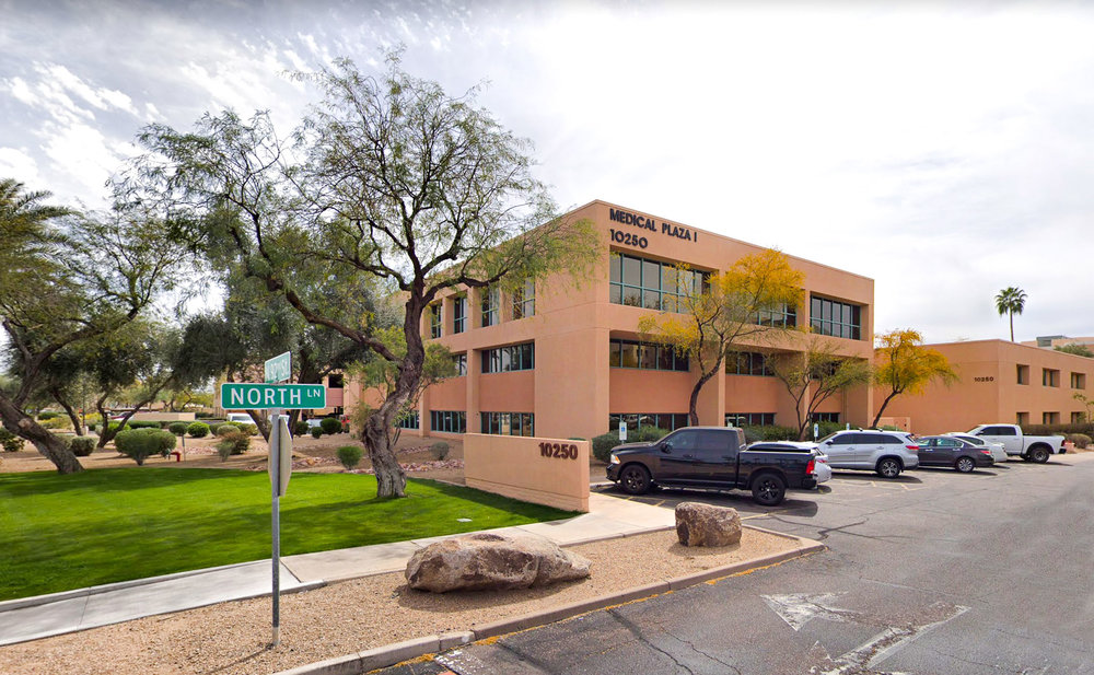 Street view of our new location, 10250 N 92nd St. Suite 114 Scottsdale AZ 85258. We look forward to seeing patients here beginning February 11th, 2019.
