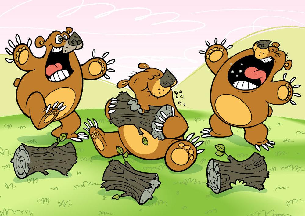 HAPPY BEAR + NOMNOM BEAR + ANGRY BEAR