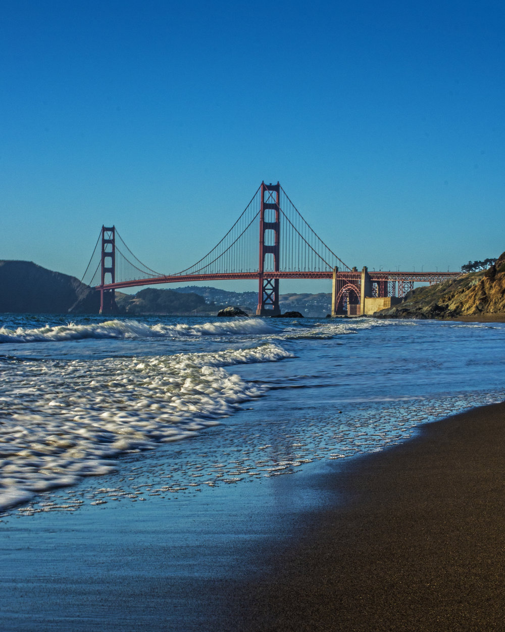 One of the first photos I took.  This was from Baker Beach on the Pacific side of the bridge.