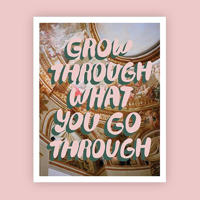 Grow through what you go through 🌺 _  #beautyisbravery artwork by @blindsaay
